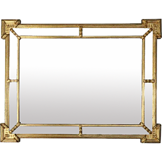 Vintage French Classical Style Giltwood Ethan Allen Parclose Mirror 20th Century