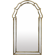 Vintage French Neoclassical Giltwood Parclose Wall Mirror, 20th Century