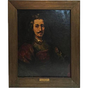 Antique A. C. Winn Rembrant Old Master Oil on Canvas Painting, circa 1880
