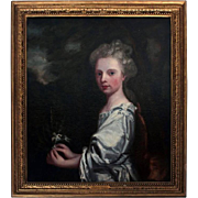 "Antique G. Kneller Oil on Canvas Painting ""The Countess of Essex"", 19th C"
