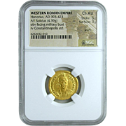 Roman Gold Solidus of the Emperor Honorus