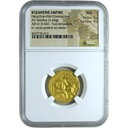 Byzantine Gold Coin of the Emperor Heraclius
