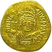 Byzantine Gold Solidus of the Emperor Justinian I