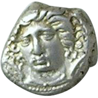 Ancient Greek Silver Drachm from THESSALY, Larissa (400-370 BC)