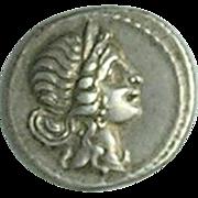 Julius Caesar; Ancient Roman Silver Denarius