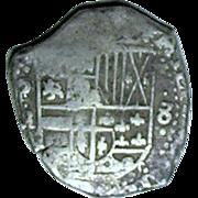 Bolivia; Cob 8 Real Silver Coin; Philip III; 1598-1620