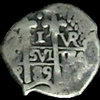 Peru; 1 Real Cob; 1689