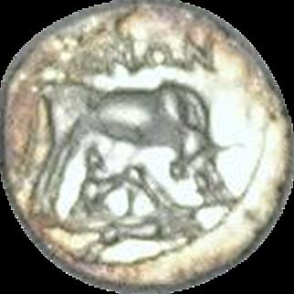ILLYRICUM; Dyrrachil; Ancient Greek Silver Drachm