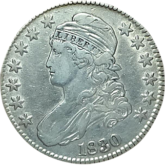 CAPPED BUST United States Half Dollar; 1830