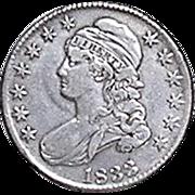 BUST Half Dollar; 1833