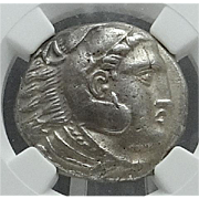 ALEXANDER THE GREAT; Silver Tetradrachm; Macedonian Kingdom