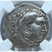 Ancient Greek Silver Tetradrachm; Type of Alexander the III (The Great); Struck in Asia Minor at Uncertain Mint