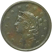 U.S. Lagge Cent; 1838; High Grade