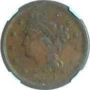 U.S. Large Cent; 1851; NGC Holder; High Grade