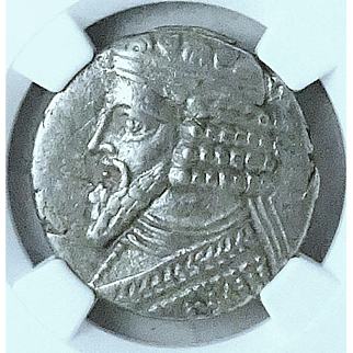 Ancient Coin of the Parthian Kingdom; Tetradrachm of Gotarzes II, 44-51AD