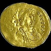 HERACLIUS; Byzantine Gold Tremissis; 610-641 AD