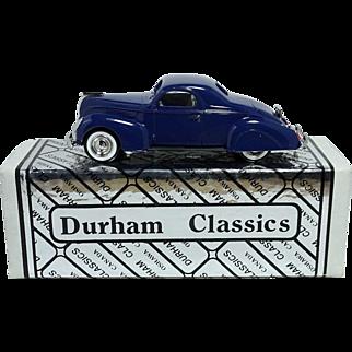 38 Lincoln Zephyr; A Durham Classics Display Model; NIB, MINT