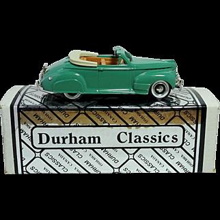 1941 Chevrolet Convertible; A Durham Classics; NIB; Mint with Original COA