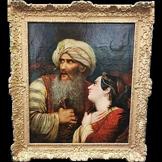 "Jean Joseph Bidauld (1758 – 1846) Original Oil Painting apres Raymond Monvoisin ""Ali Pasha"""