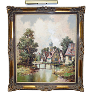 Original J Hohenberger Oil Painting Museum Framed  European Landscape
