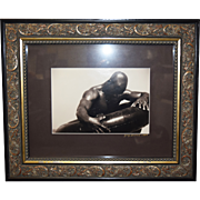 Gregory McNeal Signed/Dated Photo Art Print Black Man w/Inner Tube SGL Framed
