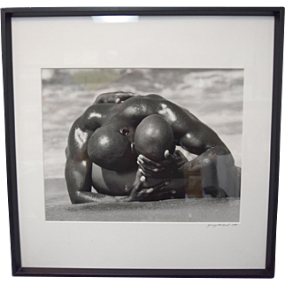 Gregory McNeal Signed/Dated Photo Art Print Black Men Beach African American SGL