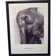 "Rip Bowman ""Tension"" Signed Print Framed African American Black Art"