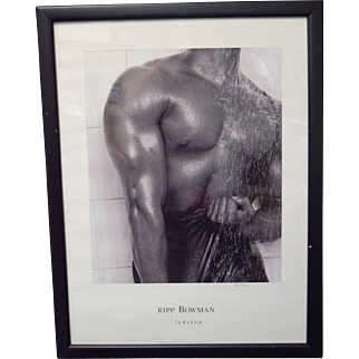 "Rip Bowman ""Tension"" Signed Print Framed African American Black Art"