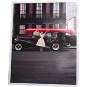 William Helburn 1956 Red Canoe NYC Photograph Limited Print Signed Inverse