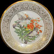 Vintage Lenox BOEHM Birds Collectible Bird Plate Eastern Phoebes 1981