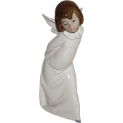"Lladro #4960 ""Curious Angel"" Angel Farolero 9.5"" Tall w/Original Box, 1977"