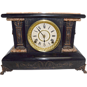 Beautiful ANTIQUE 1880 Seth Thomas #102 Adamantine Mantle Clock