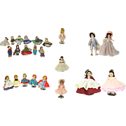 "Lot of 22 VINTAGE 60s & 70s Madame Alexander Dolls 8"" to 14"""