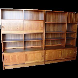 Local Pickup Only Domino Mobler Mid Century Modern Danish Teak Wood Wall Unit Credenza Bookshelf