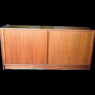 Mid Century Modern Danish Teak Dresser Set w/Tambour Door Bedroom LOCAL PICKUP ONLY