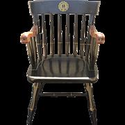Vintage Bent Brothers Black University of Rhode Island Windsor Colonial Alumni Arm Chair