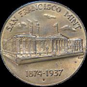 US Treasury San Francisco Mint Commemorative Coin 1874-1937