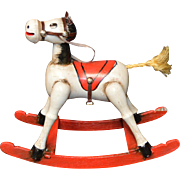Vintage 1979 Enesco Toy Land Musical Rocking Horse