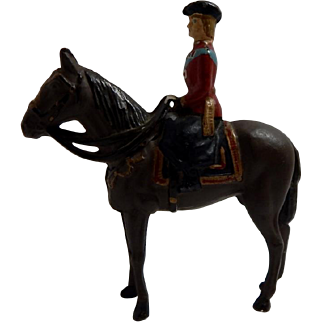 Cast Metal Equestrian Rider Horse Toy