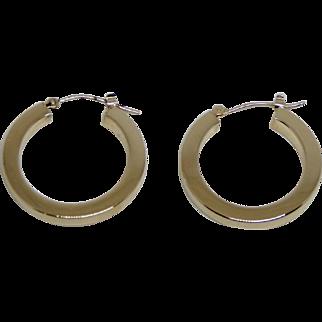 14k Yellow Gold Light Weight Hoop Earrings