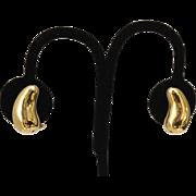 18k Tiffany & Co. Teardrop Earrings Designed By Elsa Peretti