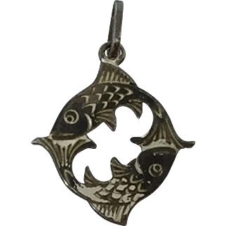Krementz Sterling Double Fish Charm