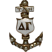 10k Delta Gamma Sorority Badge Pin