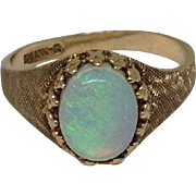 10k Opal Ring Yellow Gold