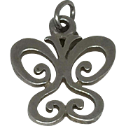Sterling Retired James Avery Butterfly Charm