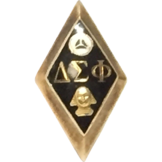 10k Yellow Gold Delta Sigma Phi Pledge Pin