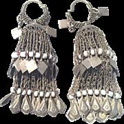 Vintage Hoops Earrings - Boho - Tribal - Kuchi Tribe - Afghanistan