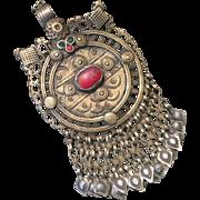 Vintage Pendant - Afghani Jewelry - Tribal Necklace - Nomadic Jewelry - Middle Eastern Pendant