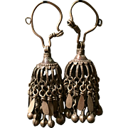Vintage Tassle Earring - Afghani Jewelry - Tribal Jewelry - Tribal Earring - Middle Eastern Earring - Handmade vintage Earring