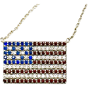 Solid Sterling Silver American Flag Pendant on Chain